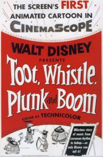 affiche poster instrument musique toot whistle plunk boom disney