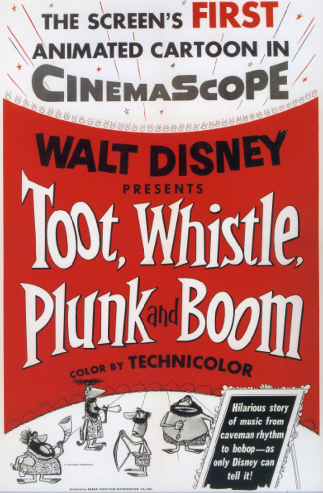 affiche poster instrument musique toot whistle plunk boom disney