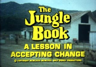 affiche poster jungle book lesson accepting change disney