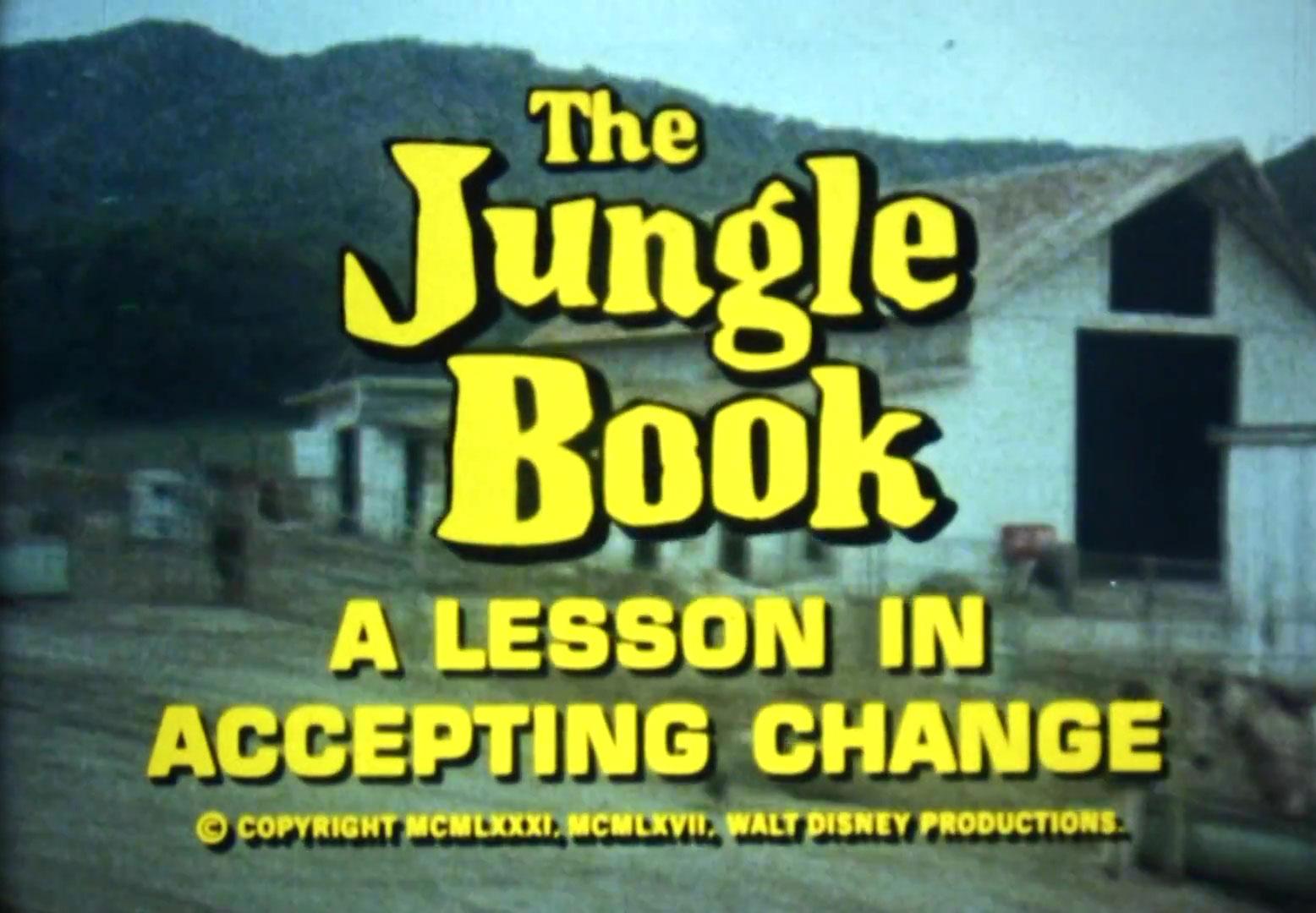 affiche poster jungle book lesson accepting change disney