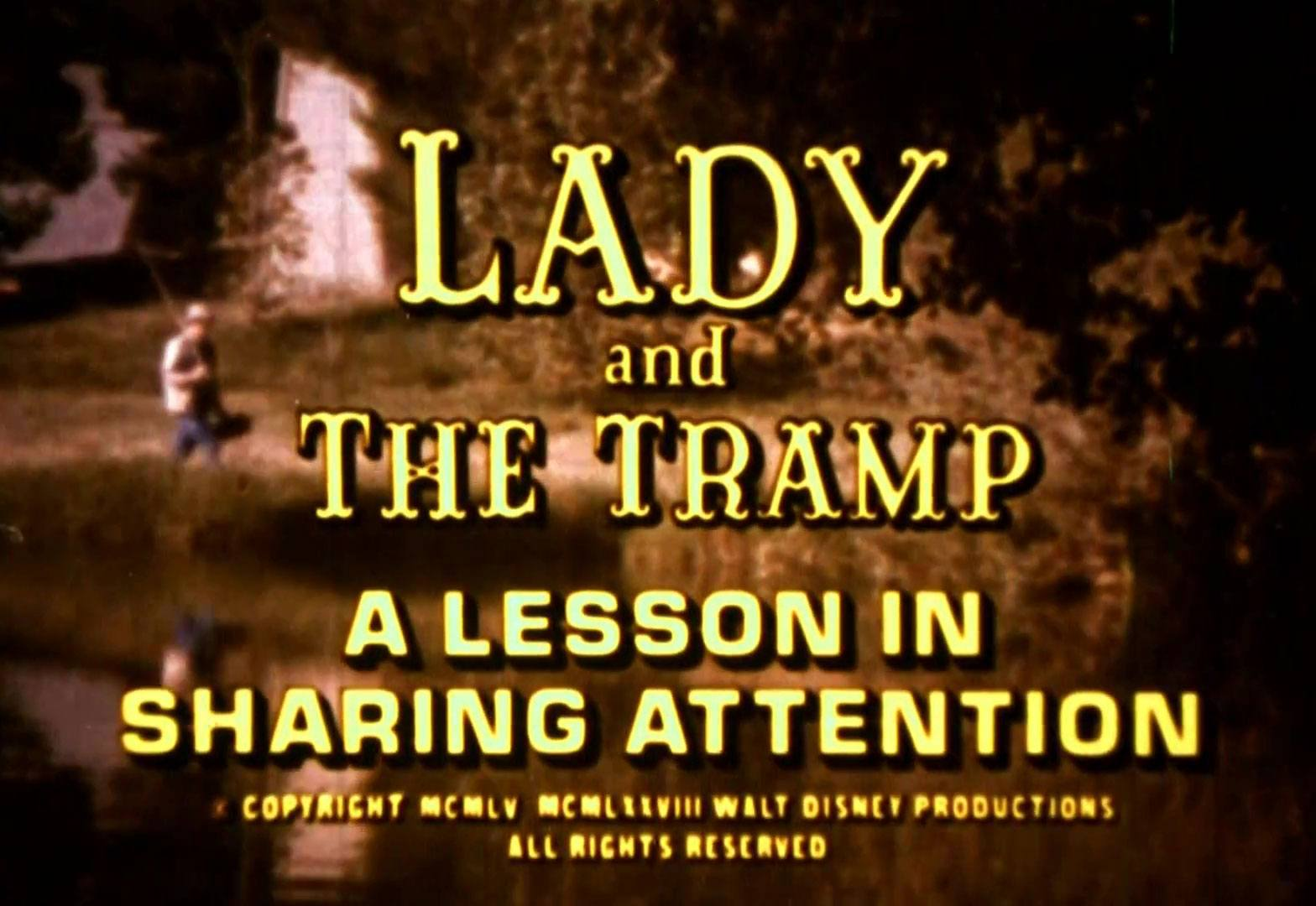 affiche poster lady tramp lesson sharring attention disney