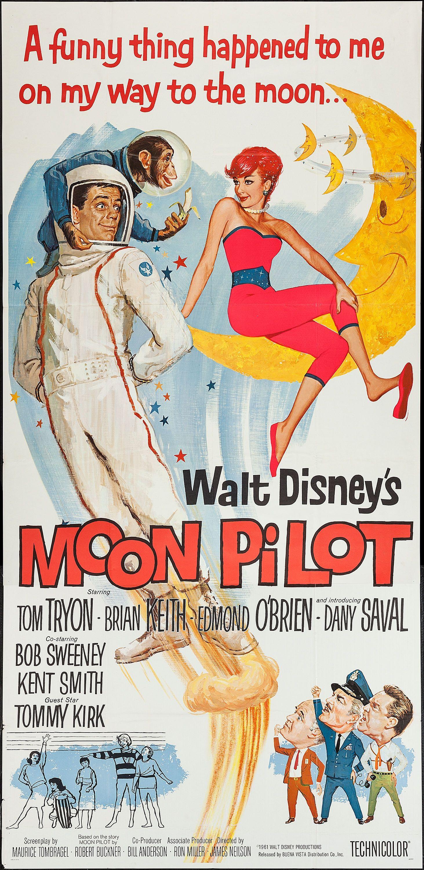 Affiche Poster pilote lune moon disney