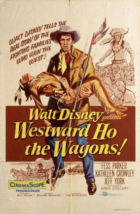 Affiche poster piste oregon westward wagon disney