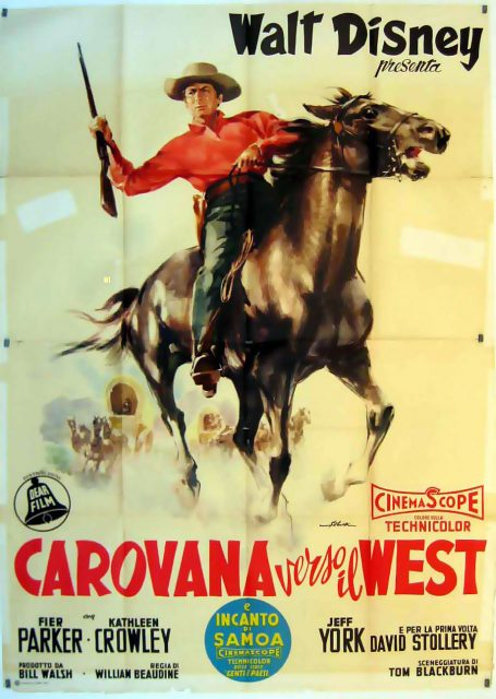 Affiche poster piste oregon westward wagon disney