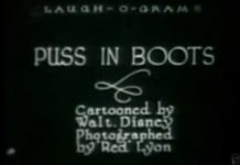 Disney Laugh-O-Grams affiche-puss-in-boots