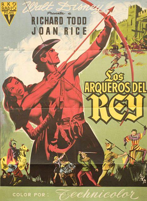 Affiche Poster robin bois joyeux compagnons hood merrie men disney