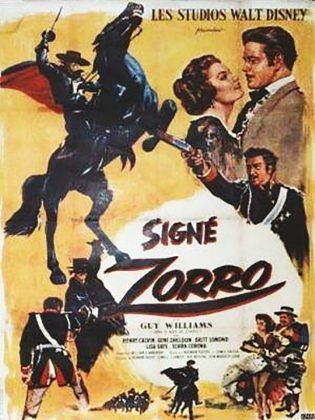 Affiche Poster signe sign zorro disney