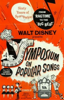 affiche poster symposium popular songs disney