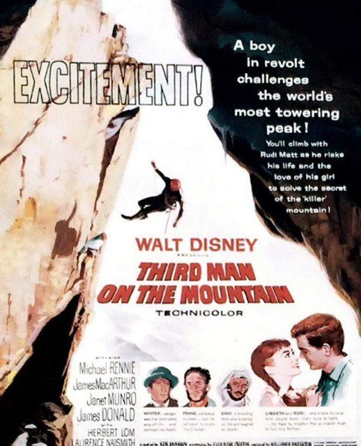 Affiche Poster troisième homme montagne third man mountain disney