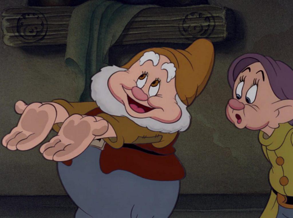 joyeux happy disney personnage character blanche-neige sept nains snow white seven dwarfs
