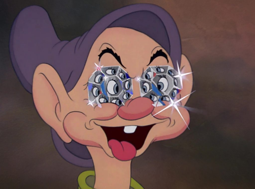 simplet dopey disney personnage character blanche-neige sept nains snow white seven dwarfs