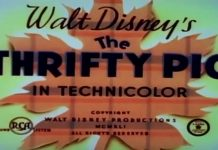 Disney Illustration The Thrifty Pig