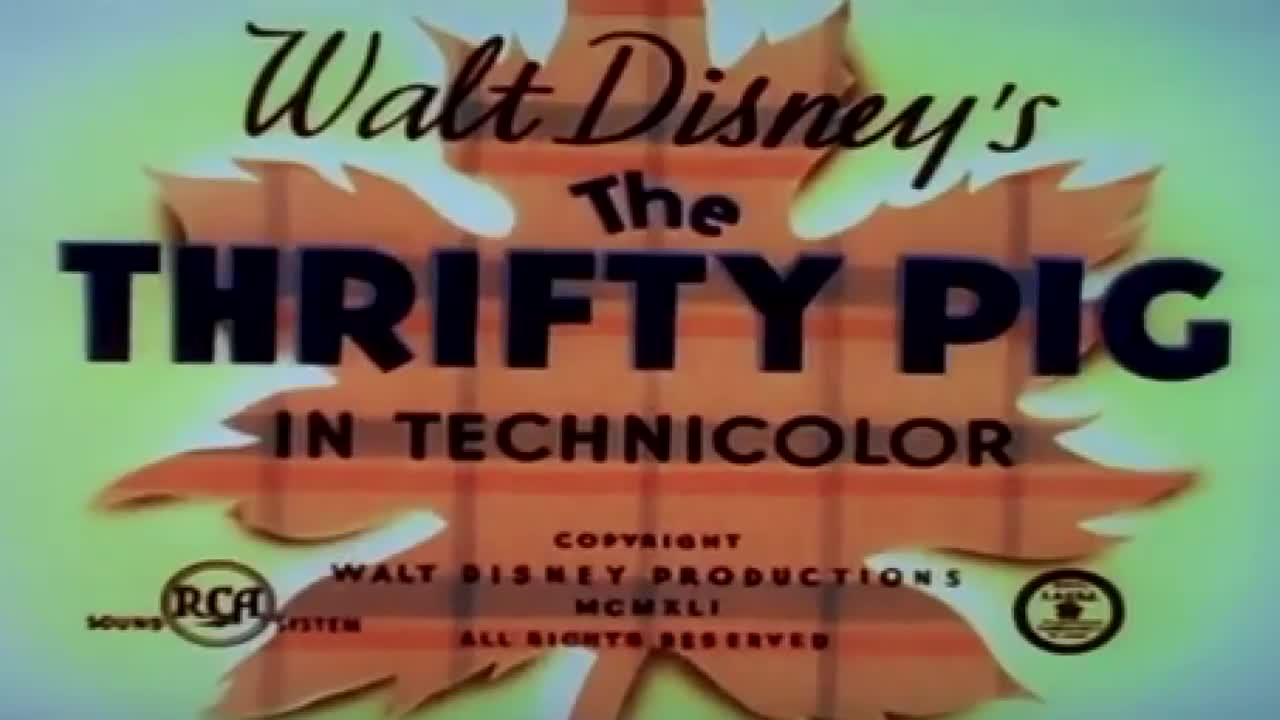 Disney Illustration The Thrifty Pig