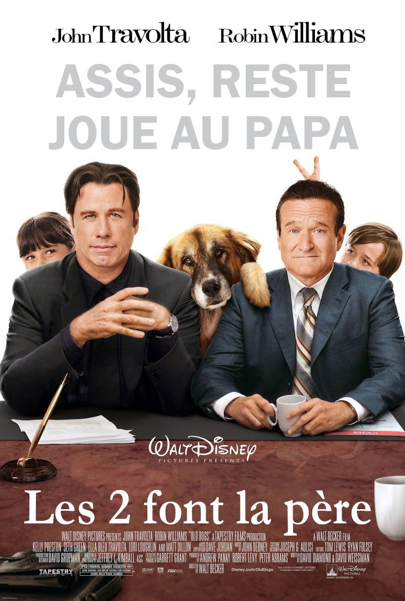 Affiche Poster 2 font père old dogs papy sitter disney