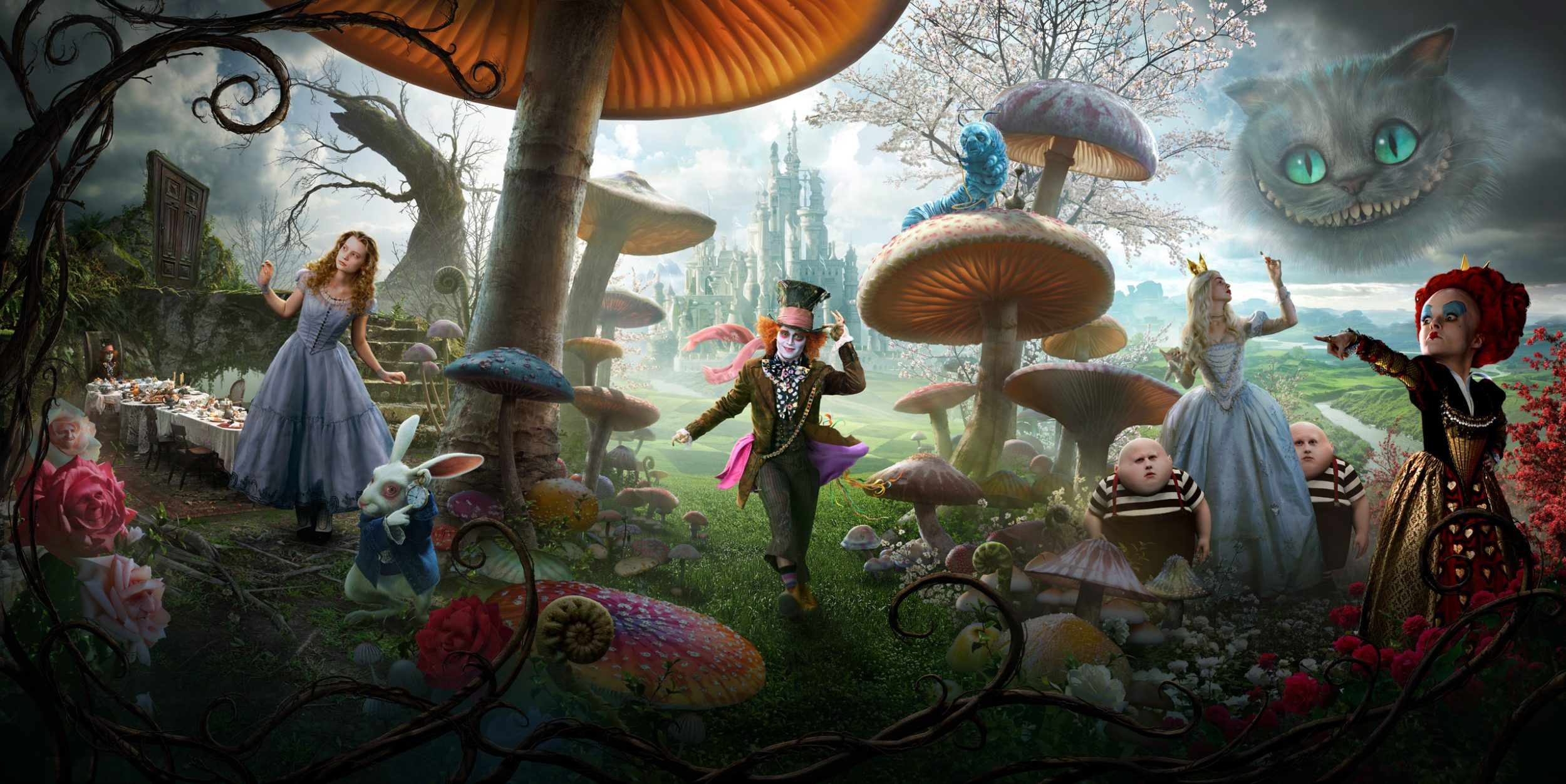 Alice au pays des merveilles film 2010 disney planet - Lapin dans alice aux pays des merveilles ...