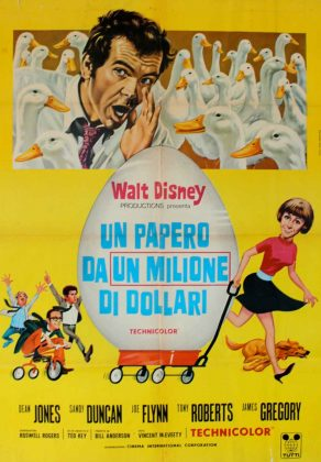 Affiche Poster cane oeufs or million dollar duck disney