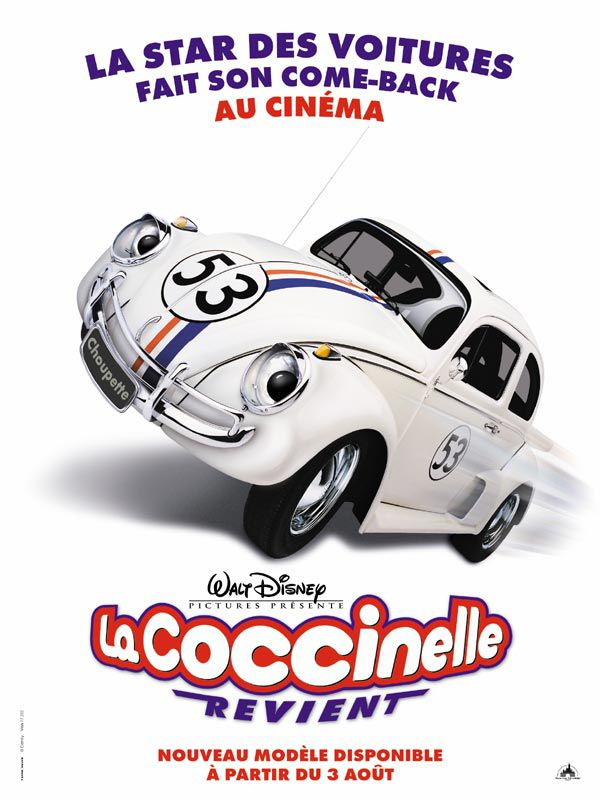 Affiche Poster coccinelle revient Herbie fully loaded disney