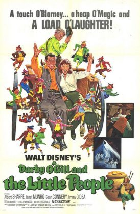 Affiche Poster Darby O'Gill farfadet little People disney