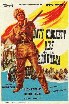 Affiche Poster davy crockett roi trappeurs king wild frontier disney