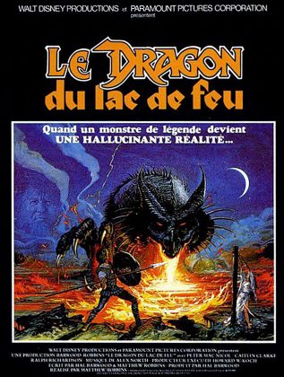 Affiche poster dragon lac feu dragonslayer disney