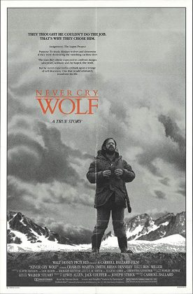 Affiche Poster homme parmi loups Never Cry Wolf disney