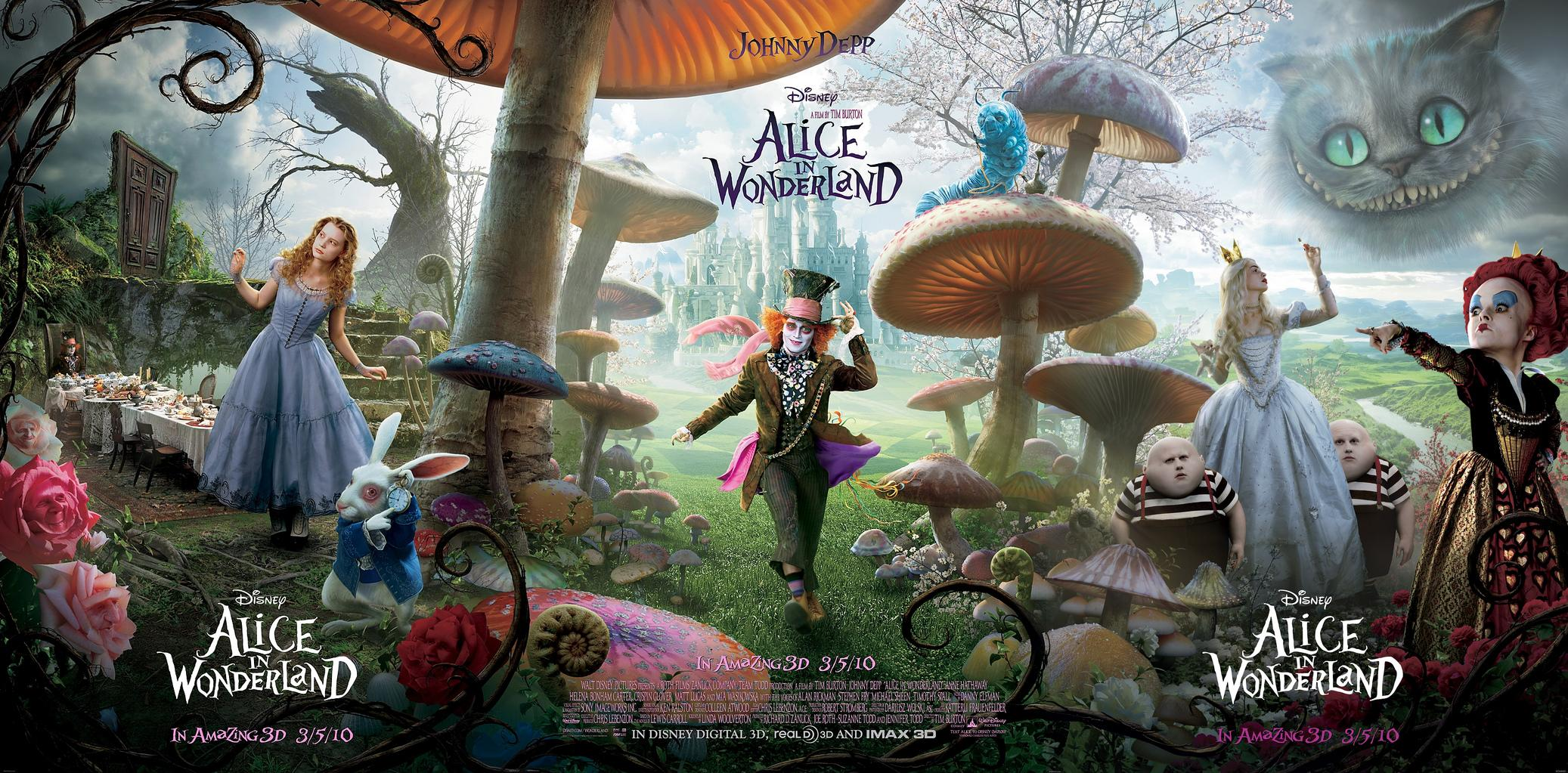 disney alice au pays des merveilles film movie poster affiche in wonderland