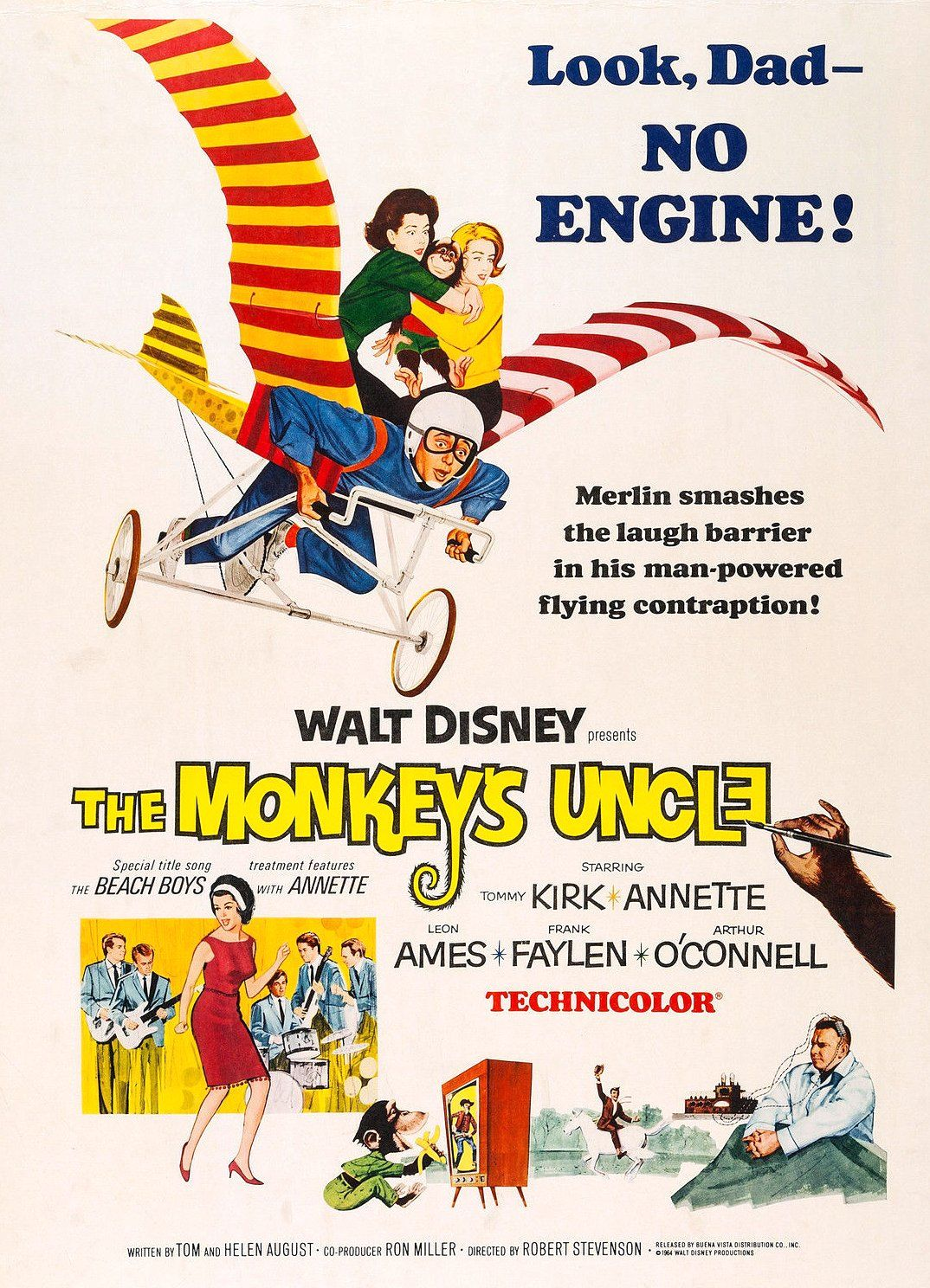 Affiche Poster neveu studieux monkey uncle disney