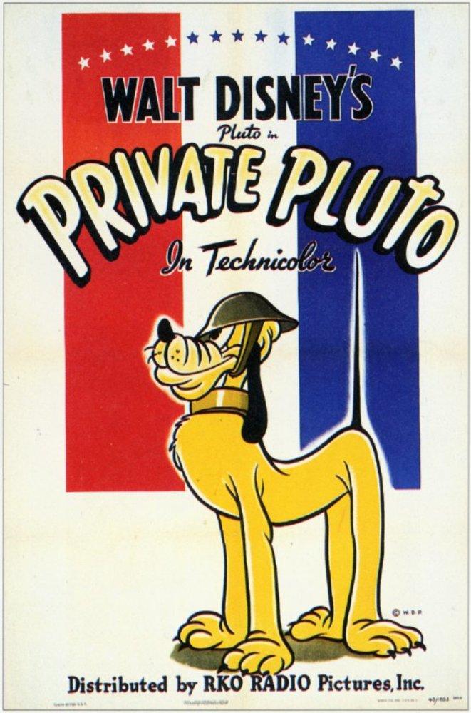 affiche poster pluto soldat private disney