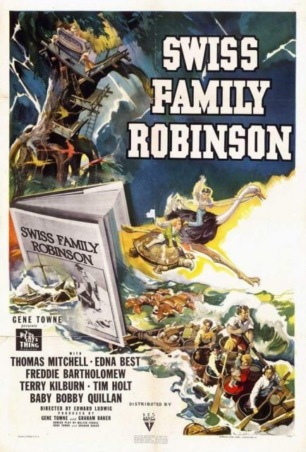 Affiche Poster robinsons mer sud Swiss Family disney