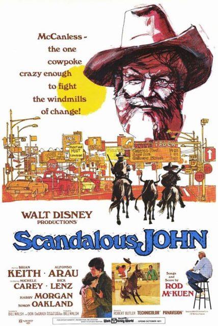 affiche poster scandalous john disney