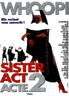 Affiche poster Sister Act 2 back habit Disney Touchstone Pictures