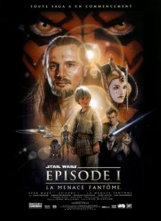 Affiche Poster star wars prélogie menace fantome phantom disney lucasfilm