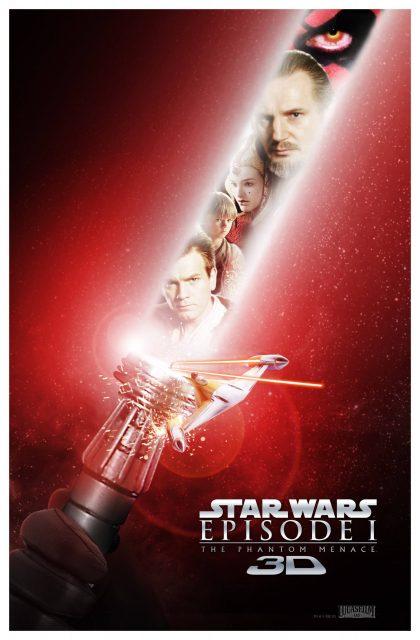 Affiche Poster star wars prélogie menace fantome phantom disney lucasfilm
