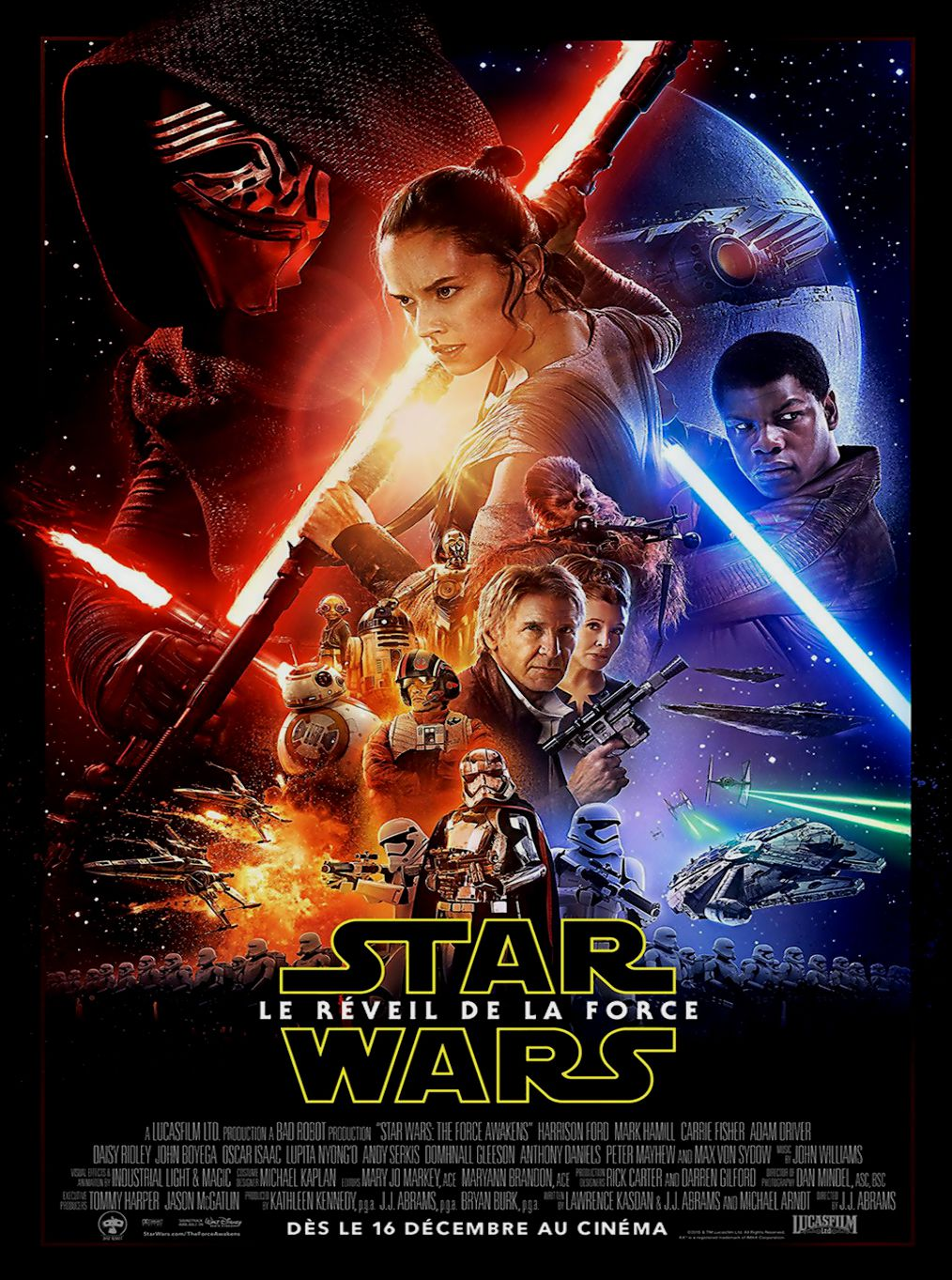 Affiche Poster star wars réveil force awaken disney lucasfilm