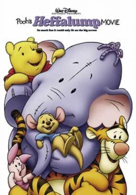 affiche poster winnie ourson éfélant pooh heffalump disney