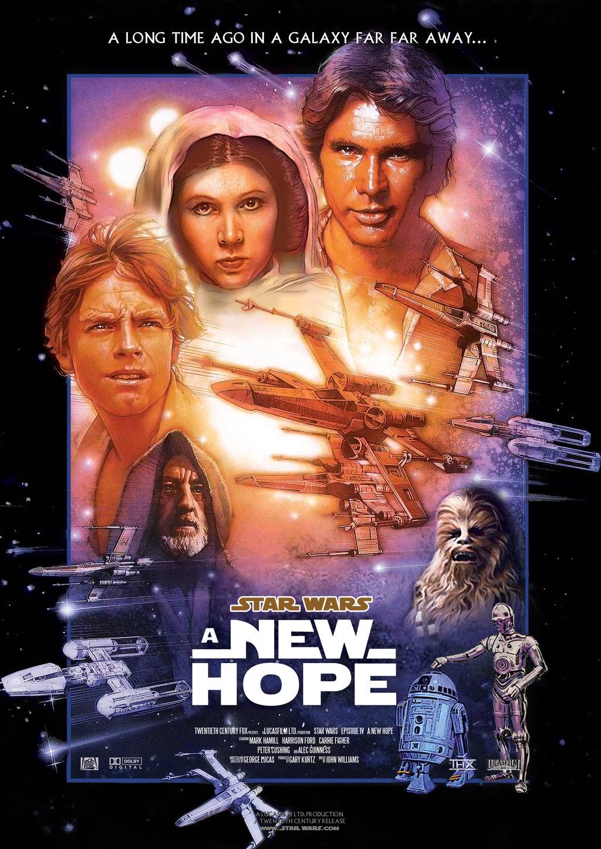 disney affiche poster star wars épisode 4 un nouvel espoir