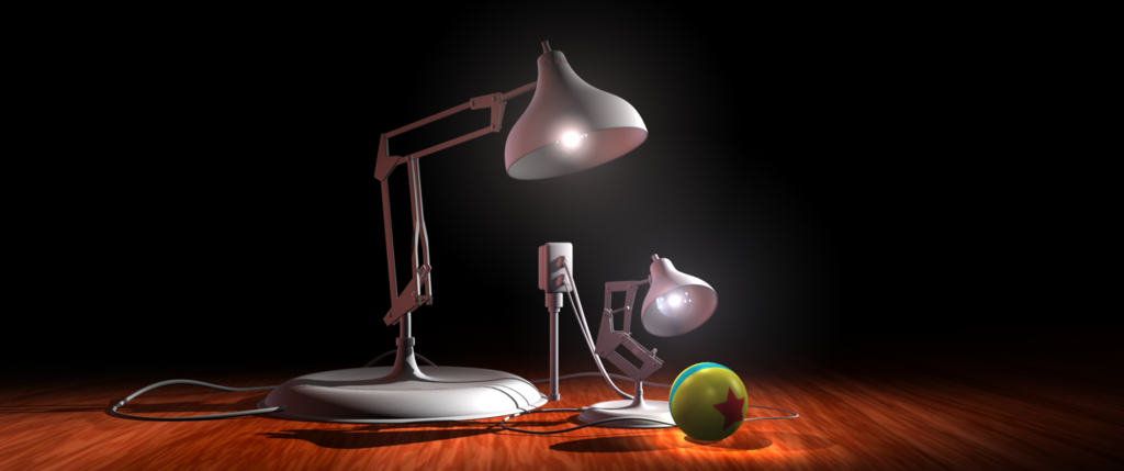 Pixar Luxo Jr Illustration