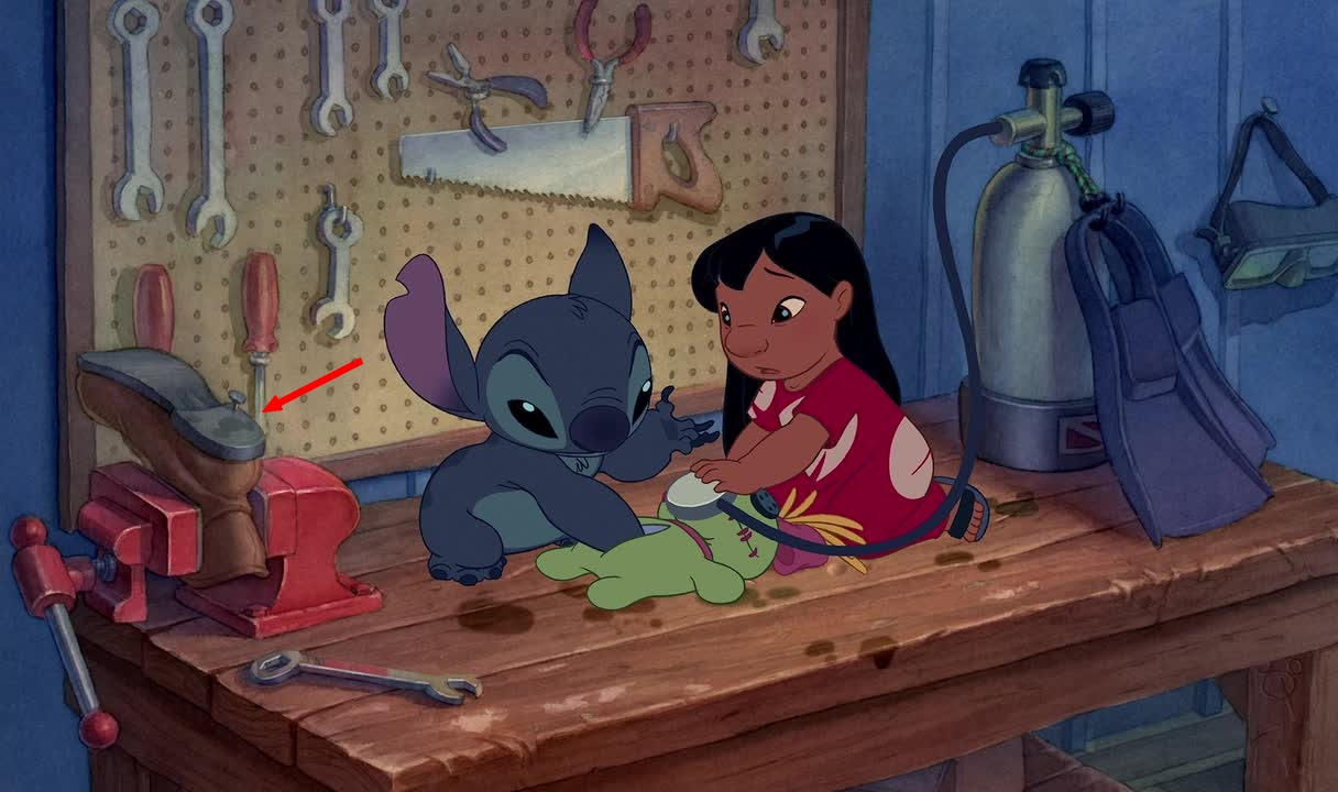 Illustration Lilo et Stitch Clin d'oeil