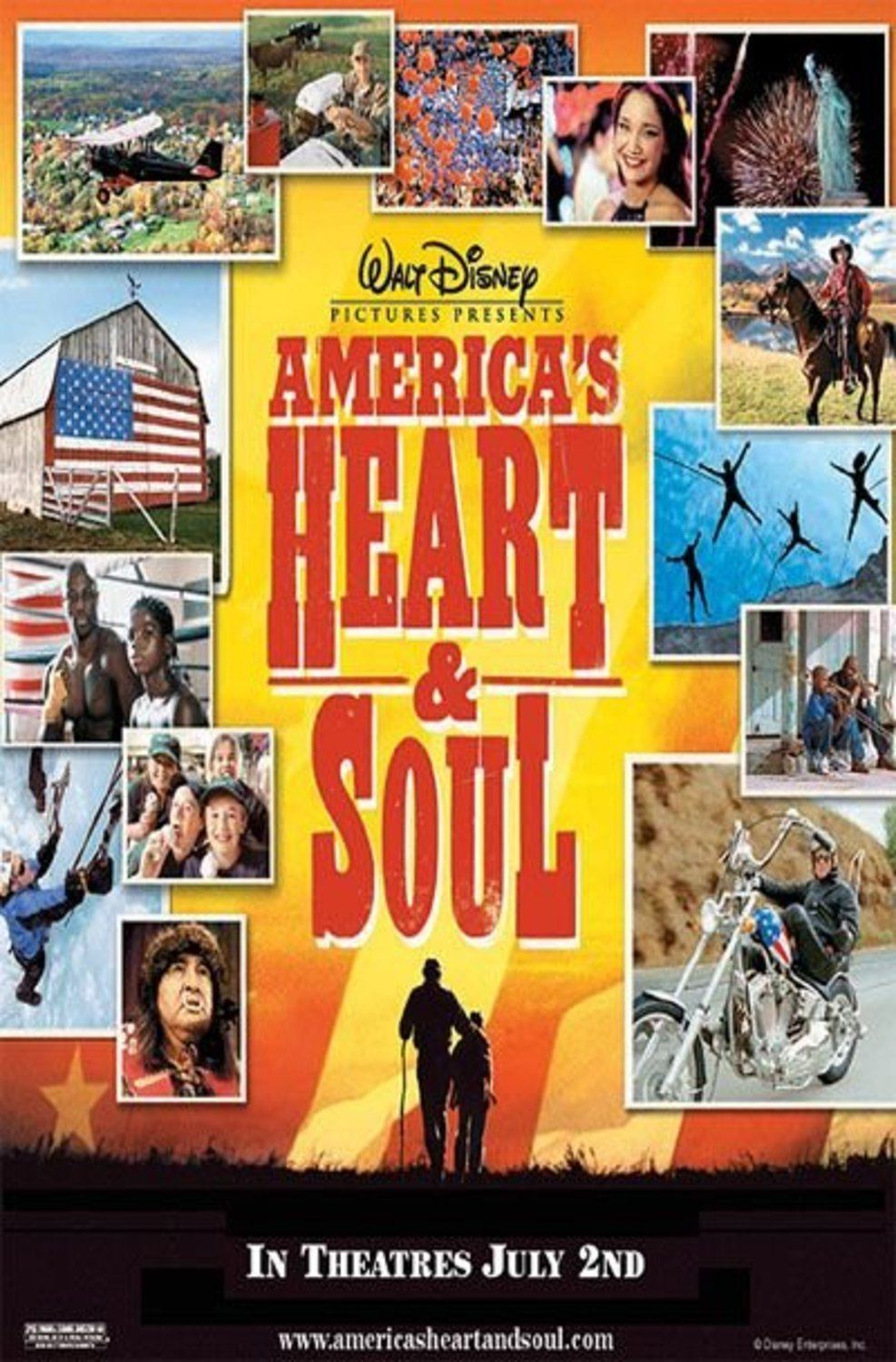 affiche poster america heart soul disney
