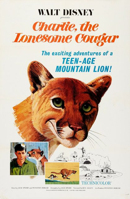 Affiche Poster charlie couguar lonesome cougar disney