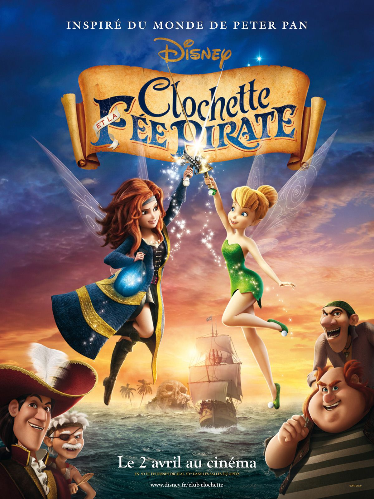 affiche poster clochette fée pirate tinkerbell fairy disney