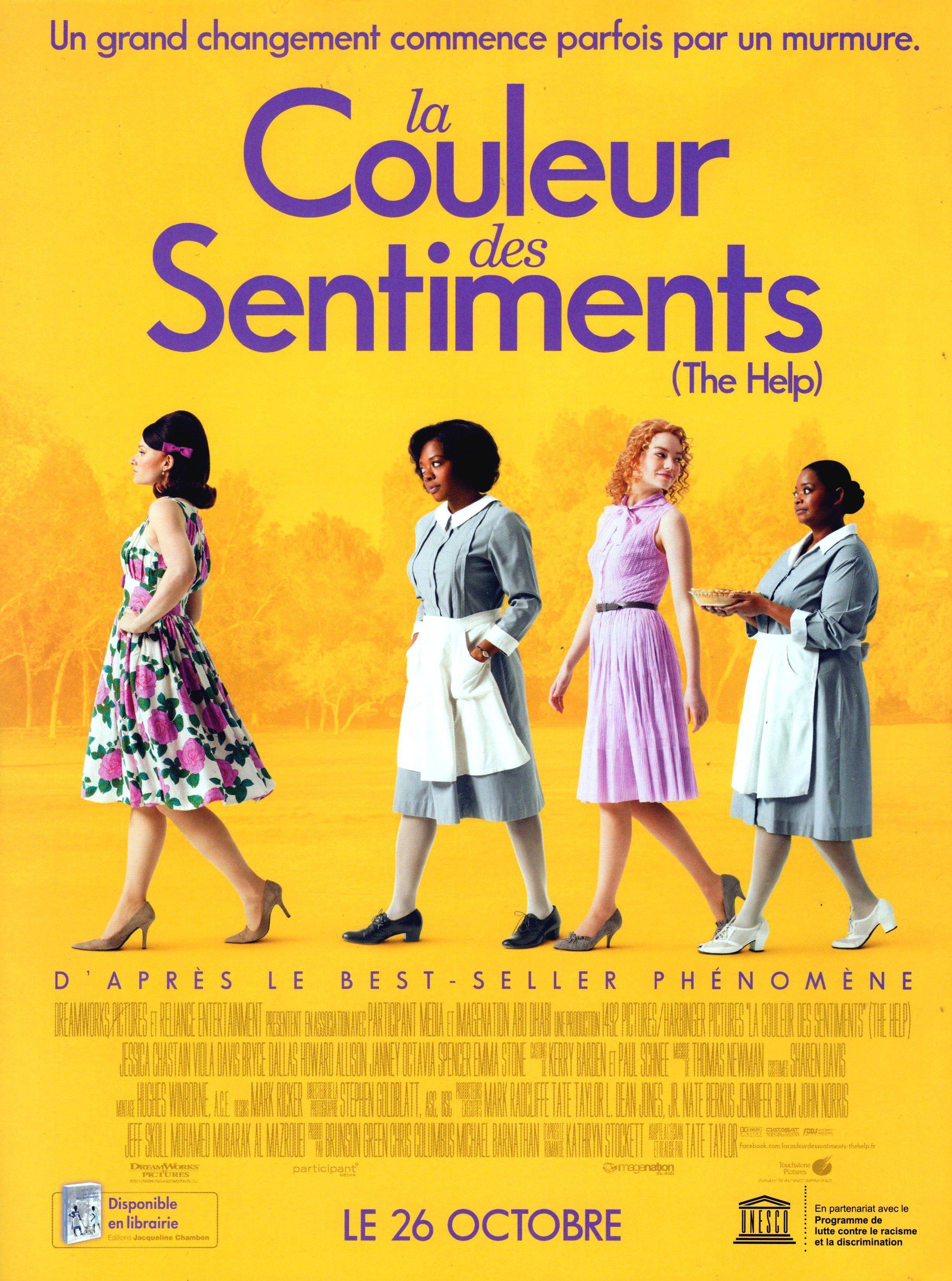 Affiche poster La couleur des sentiments the help Disney Touchstone pictures
