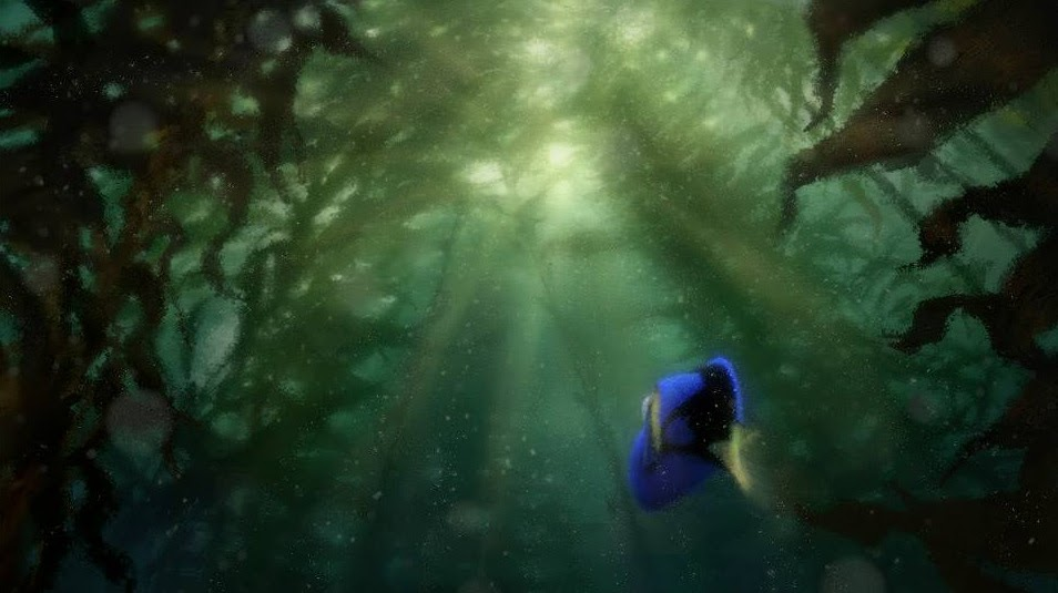 Pixar artwork monde dory finding