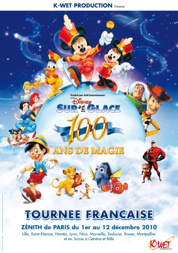 Disney on ice 100 ans de magie
