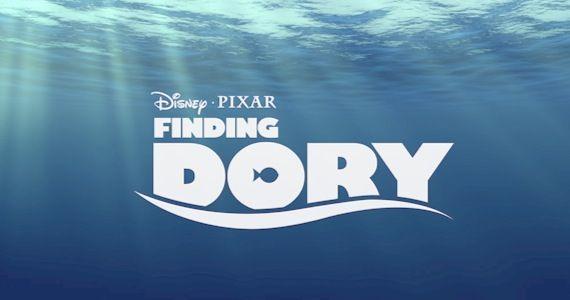 le monde de dory logo finding pixar