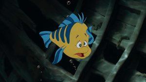 Flounder polochon disney personnage character animation la petite sirène the little mermaid