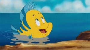 Flounder polochon disney personnage character animation la petite sirène the little mermaid
