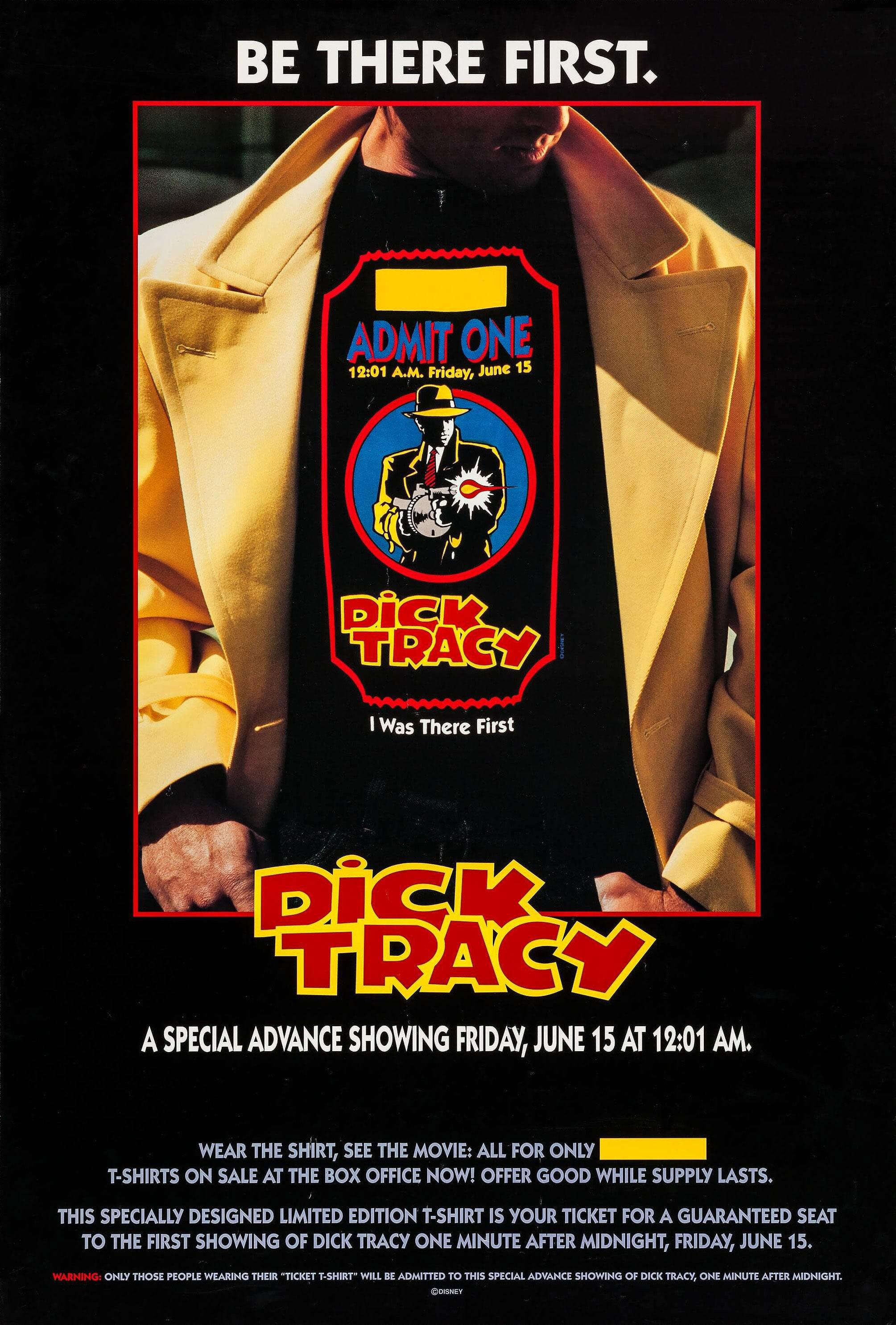 Affiche Poster dick tracy disney touchstone