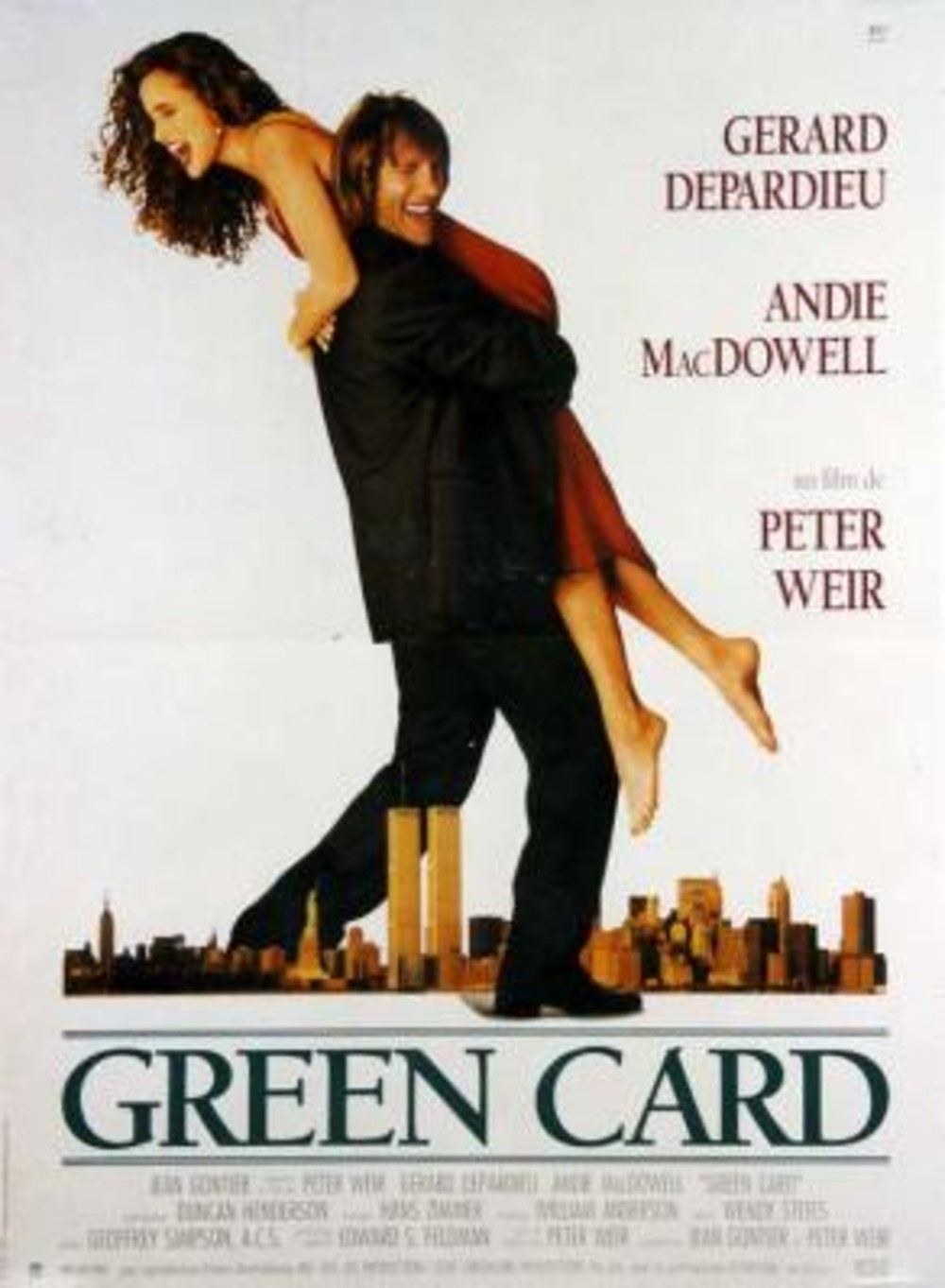 Affiche Poster green card disney touchstone