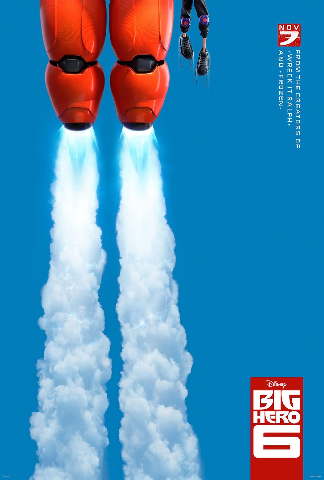 affiche poster nouveaux heros big 6 disney